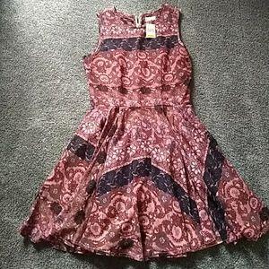 Maison Jules (Macy's) pink/black dress